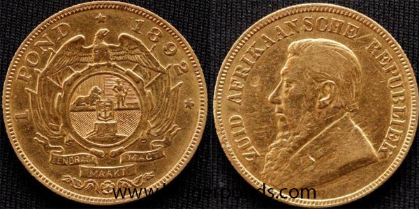 Value Your Zar Kruger Pond Gold Coins